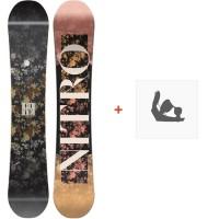 Snowboard Nitro Fate 2018 + Fixation830250