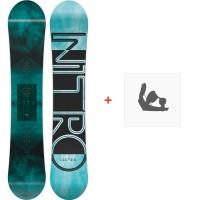 Snowboard Nitro Lectra 2018 + Fixation830252