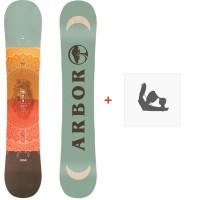 Snowboard Arbor Cadence 2018 + Fixation