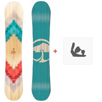 Snowboard Arbor Ethos 2018 + Fixation
