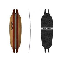 """Pumpkin Skateboards Mini Wing Rocker Woodie 74\\"""" - Deck Only302695037948"""