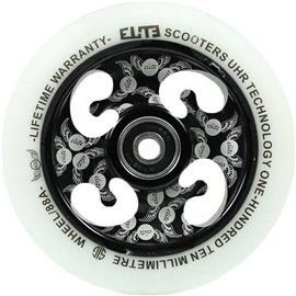 Elite UHR Laser Etched Core Pro Scooter Wheel Complete White