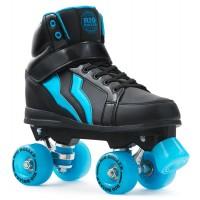 Rio Roller Kicks Style Quad Skate Child Black/Blue 2018