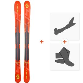 Ski Scott Jr Scrapper 2019 + Fixations randonnée + Peau266989