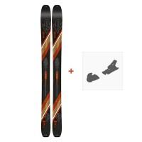 Ski K2 Wayback 106 2019 + Fixation de ski10C0200
