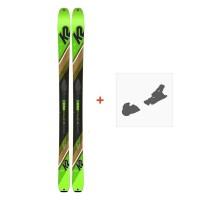 Ski K2 Wayback 88 2019 + Fixation de ski10C0202