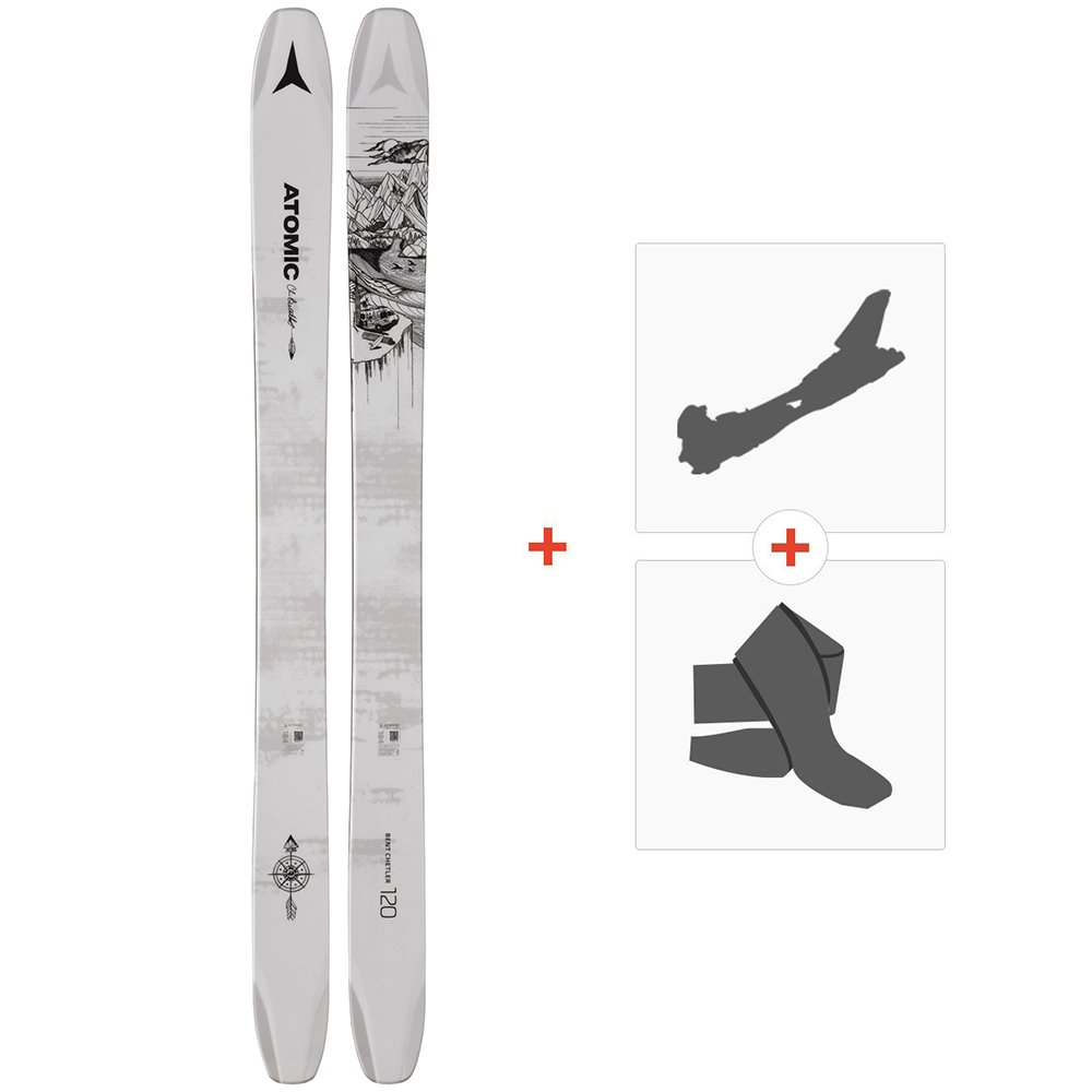 Ski Atomic Bent Chetler 120 2019 + Alpine Touring Bindings + Climbing  skinAA0027230 f049477c9