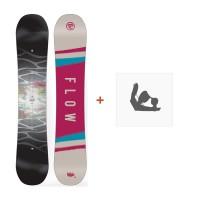 Snowboard Flow Silhouette 2018 + Fixation de SnowboardSF180219