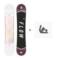 Snowboard Flow Venus White 2018 + Fixation de SnowboardSF180215