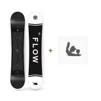 Snowboard Flow Merc Black 2018 + Fixation de SnowboardSF180172