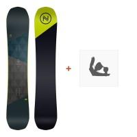 Snowboard Nidecker Merc 2019 + Fixation de SnowboardSN190145