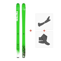 Ski Faction Dictator 1.0 x 2019 + Fixations randonnée + PeauFCTN-SKW19-DCT1X-ZZZ