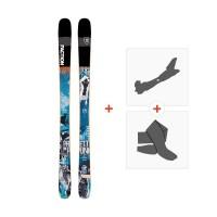 Ski Faction Prodigy 1.0 x 2019 + Fixations randonnée + PeauFCTN-SKW19-PR10X-ZZZ