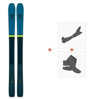 Ski Volkl 100Eight 2019 + Fixations de ski randonnée117011
