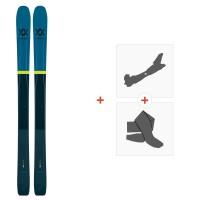 Ski Volkl 100Eight 2019 + Fixations de ski randonnée117011
