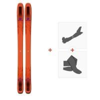 Ski Salomon QST 106 2018 + Fixations de ski randonnéeL39863300