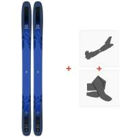 Ski Salomon QST 118 2018 + Fixations de ski randonnéeL39863400