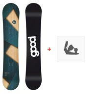 Snowboard Goodboards Apikal Camber 2019 + Fixations de snowboard
