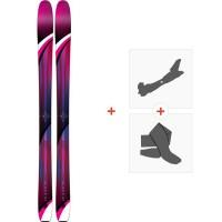 Ski K2 Gottaluvit 105 Ti 2019 + Fixations de ski randonnée10C0500.101.1