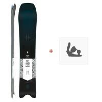 Snowboard Amplid Surfari 2019 + Fixations de snowboardA.180105