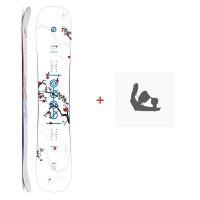 Snowboard Amplid Gogo 2019 + Fixations de snowboardA.180113