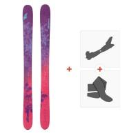 Ski Nordica Santa Ana 110 Flat 2018 + Fixations de ski randonnée + Peaux0A712900.001