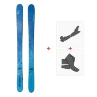 Ski Nordica Santa Ana 100 Flat 2018 + Fixations de ski randonnée + Peaux0A713100.001