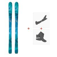Ski Nordica Astral 84 Flat 2018 + Fixations de ski randonnée + Peaux0A709300.001