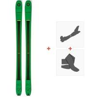 Ski Blizzard Zero G 95 Green 2019 + Fixations de ski randonnée + Peaux