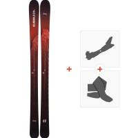 Ski Armada Invictus 95 2019 + Fixations de ski randonnée + PeauxRAST00042