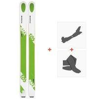 Ski Kastle BMX105 HP 2019 + Fixations de ski randonnée + Peaux