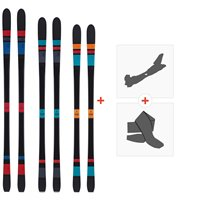 Ski Scott Black Majic 2015 + Fixations de ski randonnée + Peaux236392