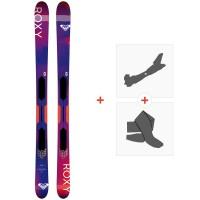 Ski Roxy Shima All Mountain Flat 2019 + Fixations de ski randonnée + PeauxSKI-RX-SH-96