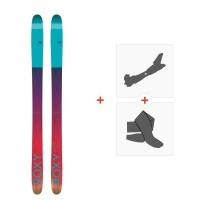 Ski Roxy Shima 90 2017 + Fixations de ski randonnée + Peaux