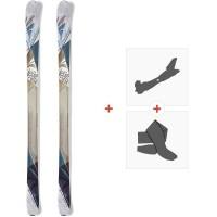Ski Nordica Belle To Belle 2015 + Fixations de ski randonnée + Peaux0A423400.001