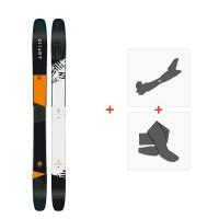 Ski Amplid The Hill Bill 2018 + Fixations de ski randonnée + PeauxA.170206