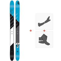 Ski Amplid Rockwell 2018 + Fixations de ski randonnée + PeauxA.170203