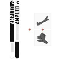 Ski Amplid A 10/30 191 2015 + Fixations de ski randonnée + PeauxA-300021
