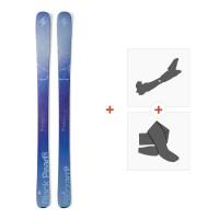 Ski Blizzard Black Pearl 2016 + Fixations de ski randonnée + Peaux8A513400