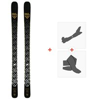 Ski Black Crows Daemon 2019 + Alpine Touring Bindings + Climbing skin