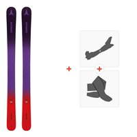Ski Atomic Vantage Girl 140-150 Pr/Red 2019 + Fixations de ski randonnée + PeauxAA0027240