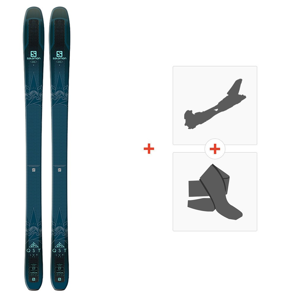 Ski Salomon N QST LUX 92 Dark Blue/Light Blue 2019 + Touring bindings