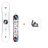Snowboard Amplid Gogo 2018 + Fixations de snowboardA.170112