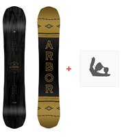 Snowboard Arbor Element Black Rocker 2019 + Fixations de snowboard11912F18