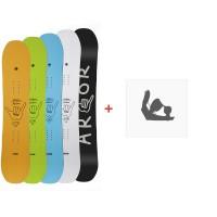 Snowboard Arbor Helix 2019 + Fixations de snowboard11907F18-3