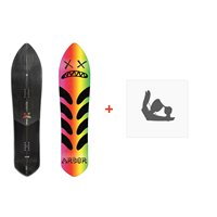 Snowboard Arbor Terrapin Board 2018 + Fixations de snowboard11834F17