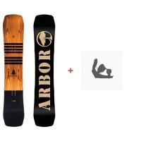Snowboard Arbor Westmark Camber Frank April 2018 + Fixations de snowboard11820F17