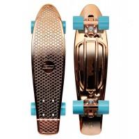 "Penny Skateboard Rose Gold Metal Solid 22"" - complete 2019"