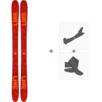 Ski Line Ruckus 2020 + Fixations de ski randonnée + Peaux19D0023.101.1