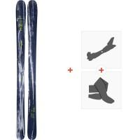 Ski Line Supernatural 100 2020 + Fixations de ski randonnée + Peaux19D0014.101.1